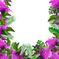 Tropical Leaves. Floral Design Background Royalty Free Stock Photography - 61403577
