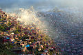 The Larung Gar In The Fog Royalty Free Stock Image - 61405066
