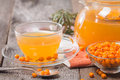 Tea With Sea Buckthorn Royalty Free Stock Image - 61407596
