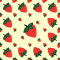 Red Berries Strawberry Strawberry Natural Seamless Pattern  Stock Photography - 61425532