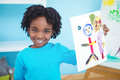 Happy Kid Enjoying Arts And Crafts Painting Royalty Free Stock Photography - 61438027