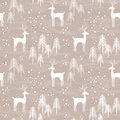Winter Forest Seamless Pattern Stock Images - 61443404