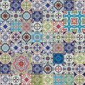 Mega Gorgeous Seamless Patchwork Pattern From Colorful Moroccan, Portuguese  Tiles, Azulejo, Ornaments.. Royalty Free Stock Photography - 61450457