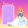 Doll Queen With Postcard, Holiday Card, Invitation Royalty Free Stock Photo - 61452375