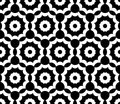 Vector Modern  Seamless  Sacred Geometry Pattern Floral, Black And White Abstract Royalty Free Stock Photos - 61454628