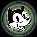 Vintage Toons. Retro Cartoon Character Smiley Woolf On The Background Looney Tunes Stock Photography - 61462902