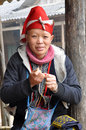 Red Dao (Yao, Dzao) Chinese Minority Woman In Traditional Clothe Royalty Free Stock Photos - 61469078