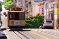 View Of Hyde Street And San Francisco Tram Stock Photography - 61469582