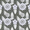 Seamless Background Abstract Illustration Of Nature. Figure 3D, Flowers, Leaves. Stock Photo - 61482410
