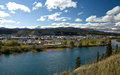 View Overlooking The Yukon River And The City Of Whitehorse Royalty Free Stock Photo - 61491085