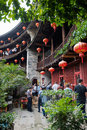 Fujian Tulou And Visitors Stock Images - 61498594