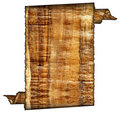 Vintage Grunge Rolled Parchment Illustration Royalty Free Stock Image - 6152966
