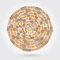 Abstract Decorative Wooden Striped Textured Weaving. Vector Doodle Stock Photo - 61504630