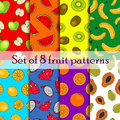 Set Of Seamless Fruit And Berry Pattern Stock Image - 61504721