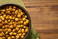 Roasted Chickpeas With Herbs Royalty Free Stock Photography - 61532707