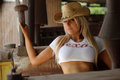 Sexy Cowgirl Royalty Free Stock Photo - 61535345