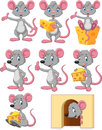 Cartoon Funny Mouse Collection Set Royalty Free Stock Images - 61539039