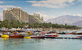 View On The Central Beach Of Eilat, Israel Royalty Free Stock Photos - 61542248