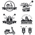 Set Of Classic Scooter Emblems, Icons And Badges. Urban, Street Royalty Free Stock Photos - 61549258