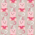 Pig With Heart Seamless Pattern Royalty Free Stock Image - 61560316