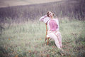 Girl In A Field Stock Photography - 61563632