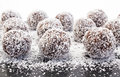 Balls Of Coconut And Chocolate Royalty Free Stock Photography - 61566897