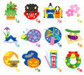 Seasonal Events Calendar In Japan 3 Royalty Free Stock Photography - 61571937