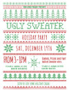 Ugly Sweater Party Invitation Royalty Free Stock Images - 61581169