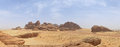 Desert Landscape, Sand, Rocks And Mountain Panorama Stock Image - 61588731