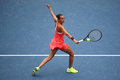 Professional Tennis Player Roberta Vinci Of Italy In Action During Her Final Match At US Open 2015 At National Tennis Center Stock Photos - 61591903
