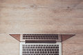 Website Header Design With Laptop Computer On Office Desk. View From Above Royalty Free Stock Photos - 61606618