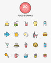 Food And Drinks Icons Stock Photo - 61632990