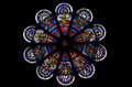 Stained Glass Rose Window Stock Photos - 61634393