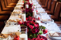 Table Set For Wedding Or Another Catered Event Dinner Royalty Free Stock Photo - 61635935