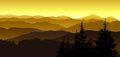Gold Evening At Mountains. Stock Photo - 61645100