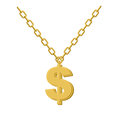 Gold Dollar On Chain. Decoration For Rap Artists. Accessory Of P Royalty Free Stock Photo - 61646145