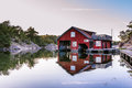 Boathouse On Harstena In Sweden Stock Images - 61653614