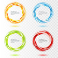 Set Of Abstract Swirl Circle On Transparent Royalty Free Stock Photo - 61663375
