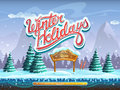 Winter Holidays Boot Screen Window For The Computer Game Royalty Free Stock Images - 61670209