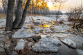 Melting Snow Stock Images - 61672934