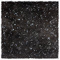 Black And White Watercolor Night Sky With Stars And Rough Edges Royalty Free Stock Photo - 61682055