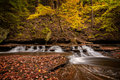 Autumn Waterfall Royalty Free Stock Photography - 61690807