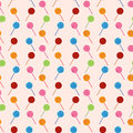 Vector Seamless Pattern With Elements Of Candy (lollipop) Stock Photos - 61691513