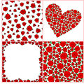 Vintage Seamless Pattern With Roses, Heart Of Roses, Frame Of Ro Royalty Free Stock Image - 61694796