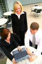 Business People Working At Laptop Stock Image - 6170011