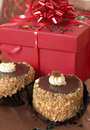 Miniature Chocolate Cakes And Gifts Stock Photos - 6175453