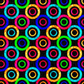 Colored Abstract Psychedelic Geometric Circles Seamless Pattern Vector Illustration Stock Photo - 61700660