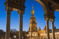 Spain Square In Seville, Andalusia, Spain. Stock Images - 61705864