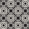 Vector Seamless Black And White Simple Cross Square  Ethnic  Quilt Pattern Stock Photos - 61720813