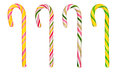 Hard Candy Canes Over White Stock Images - 61744704